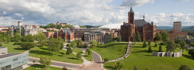 Syracuse University Campus Arial View Picture